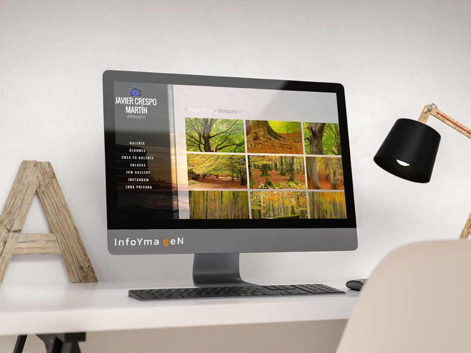 iMac con Web JCMGallery